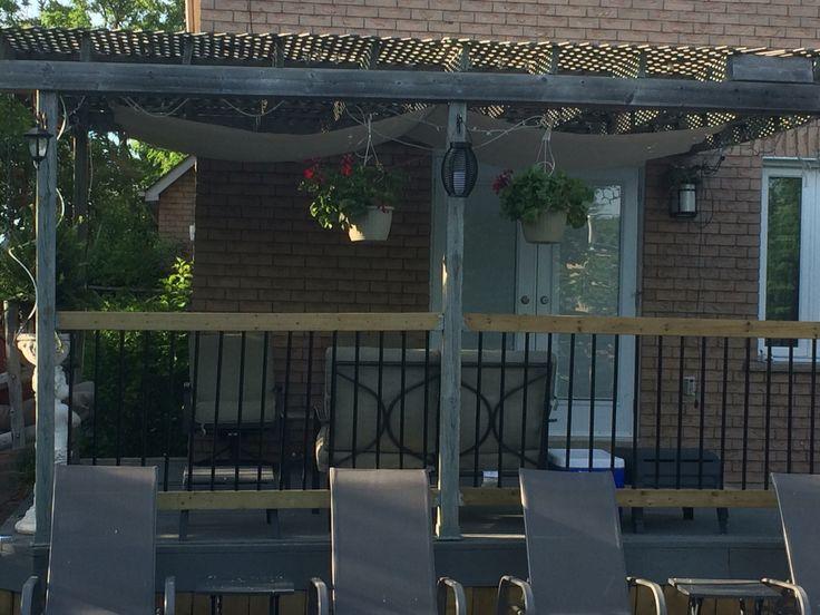 DIY Sun Shade with tarp
