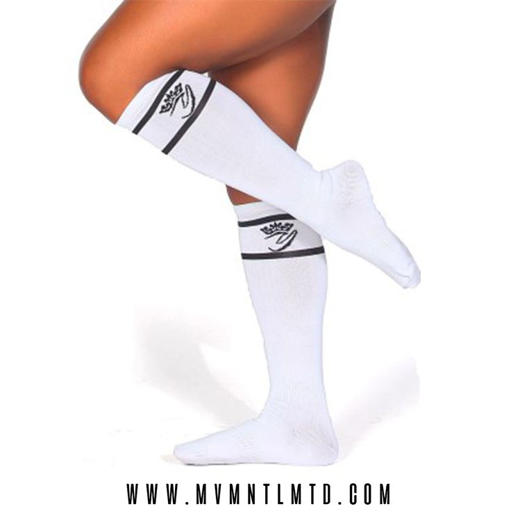 Ft. Yarishna Knee High Sporty White Socks