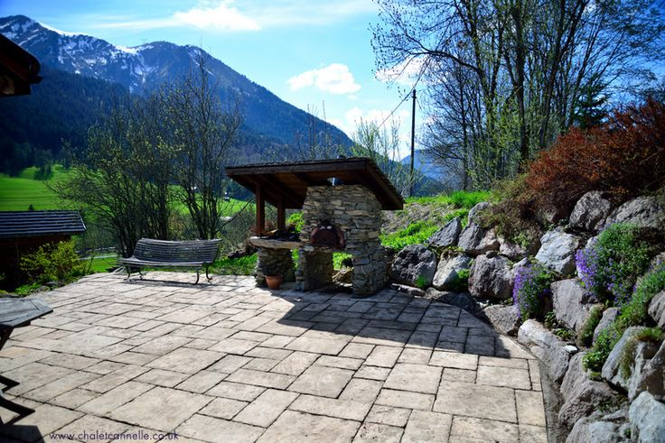 The terrace at Chalet Cannelle