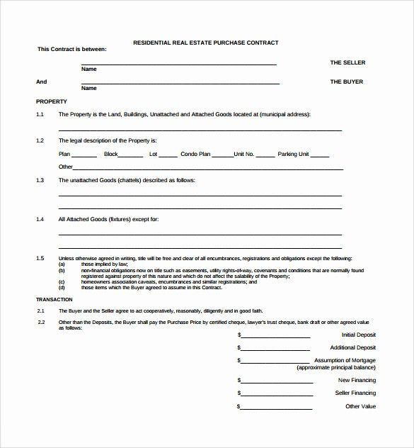 50 Inspirational Real Estate Sale Contract Template In 2020 Real