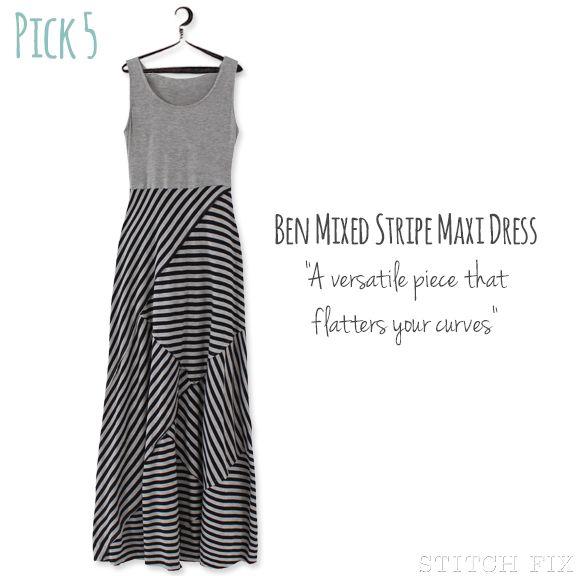 Ben Mixed Stripe Maxi Dress