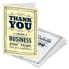 17 Best ideas about Business Thank You Cards on Pinterest