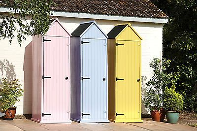 Brighton Wooden Beach Hut Garden Tool Shed Sentry Box - Yellow