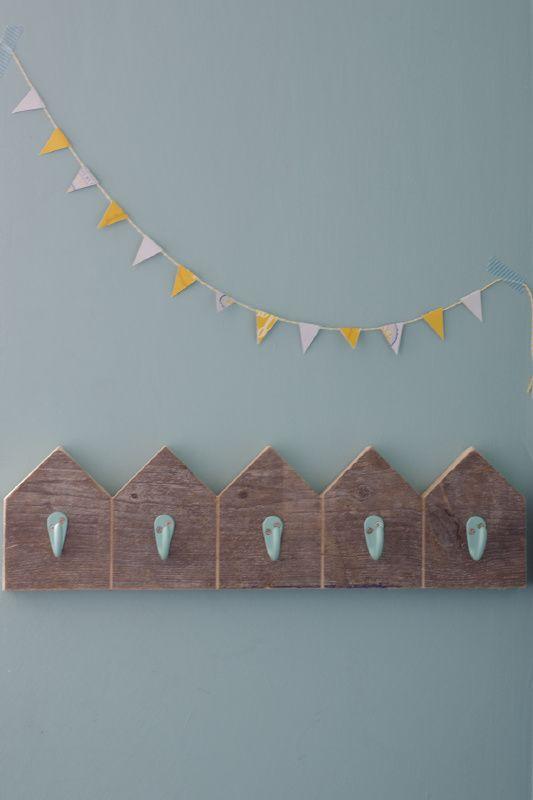'Home sweet home' kinderkapstok | houten kinderkapstokje | VanStoerHout