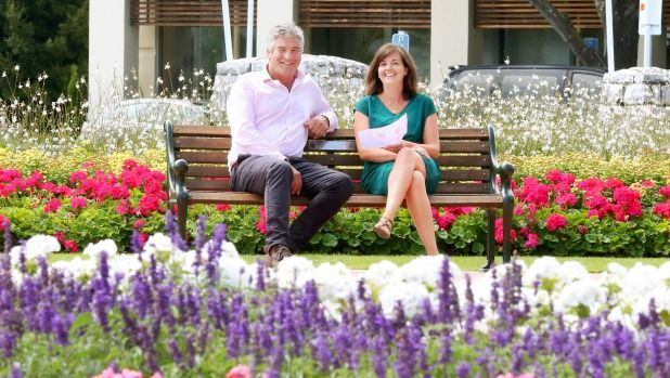 Garden Marlborough committee chairman Tim Crawford and marketing manager Julia Brown in Blenheim's Seymour Square, where ...