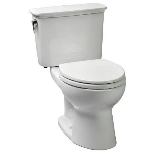 TOTO CST74ERN Eco Drake® 1.28 GPF Transitional Round Toilet in White with Right Hand Trip Lever