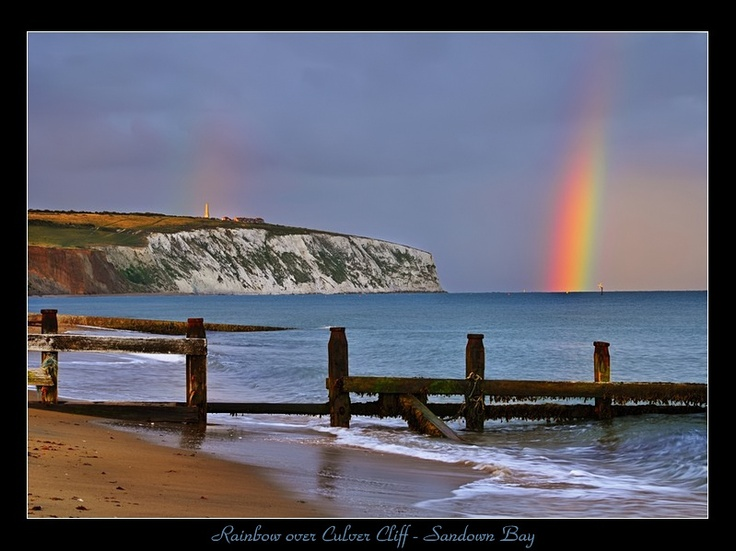 Rainbow over Culver Cliff - Sandown, Isle of Wight by Jamie Russell