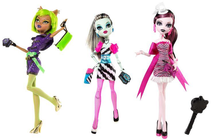 Clawdeen Wolf, Draculaura & Frankie Stein Эксклюзивный набор из трех кукол для торговой сети Walmart Рассвет танца 2011