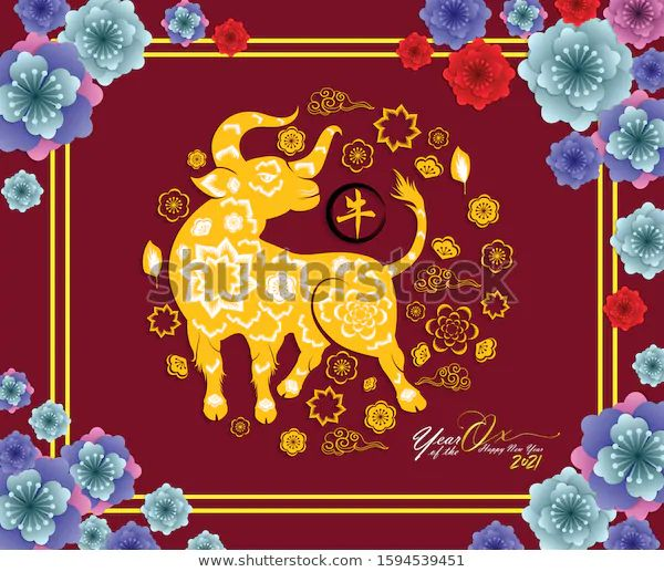 Happy Chinese New Year 2021 Year Stock Vector (Royalty ...