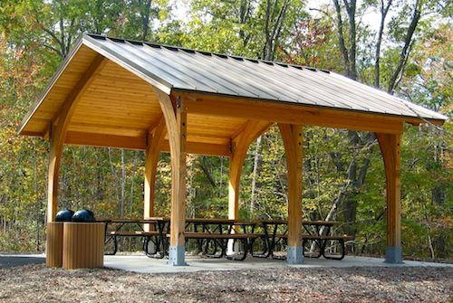 Picnic Shelter Building Plans Woodworking Projects Amp Plans