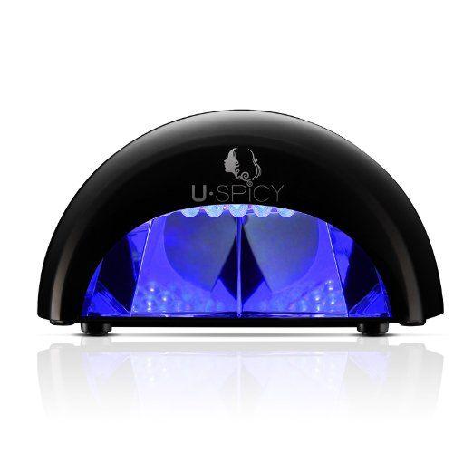 LED Nail Lamp, USpicy gelish led lamp Nail Light / Polish Dryer (Black 12W) Handy Nail Dryer Portable Manicure