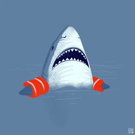 Hey, hey guys? Hey, umm..lets not go to the deep end..k? Hey guys? OH MY GOD SOMETHING TOUCHED MY TAIL FIN!!!!