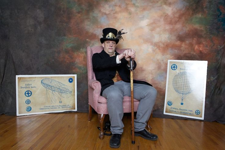 As a sci-fi fan and Civil War reenactor, Chris Ahrendt started making his own costumes. Then, his son introduced him to the world of steampunk. This opened the doors for a new direction of creativity, allowing Chris to produce a new genre of artwork consisting of gizmos, gadgets and cosplay.