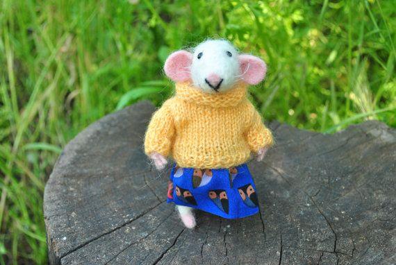 Cute felt mouse Needle felt mouse  Wool mouse  Felted animal