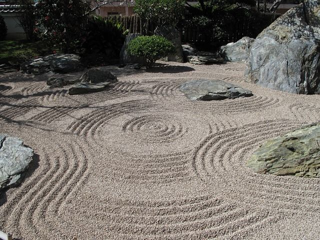 Since we have a sand backyard, the kids can make a full sized Japanese rock garden out back.