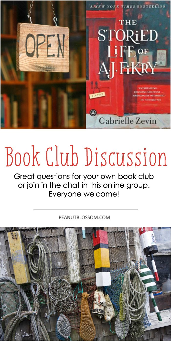 "Looking for the perfect questions to ask at your book club meeting? Check out this discussion guide for ""The Storied Life of A.J. Fikry."" Or, you can join right in this awesome online book club!"