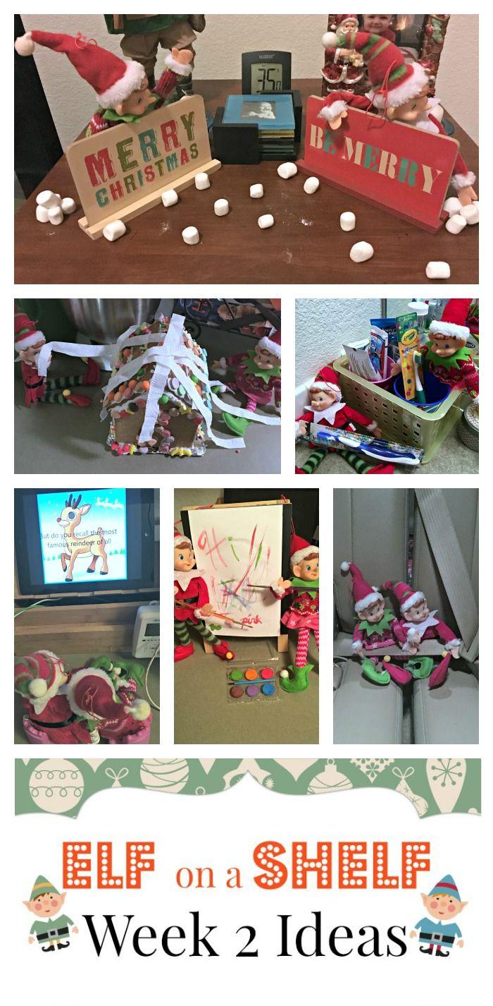 Top 50 elf on the shelf ideas i heart nap time - Elf On A Shelf Week 2 Ideas