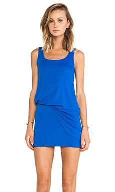 Color and fit Susana Monaco Tank Tuck Dress in Sapphire | REVOLVE