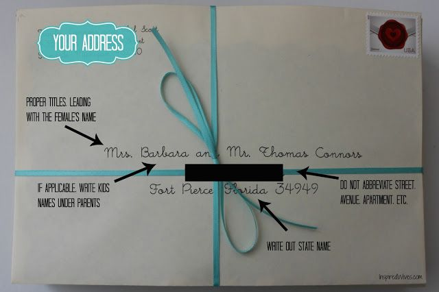 how to put an address on an envelope great britain