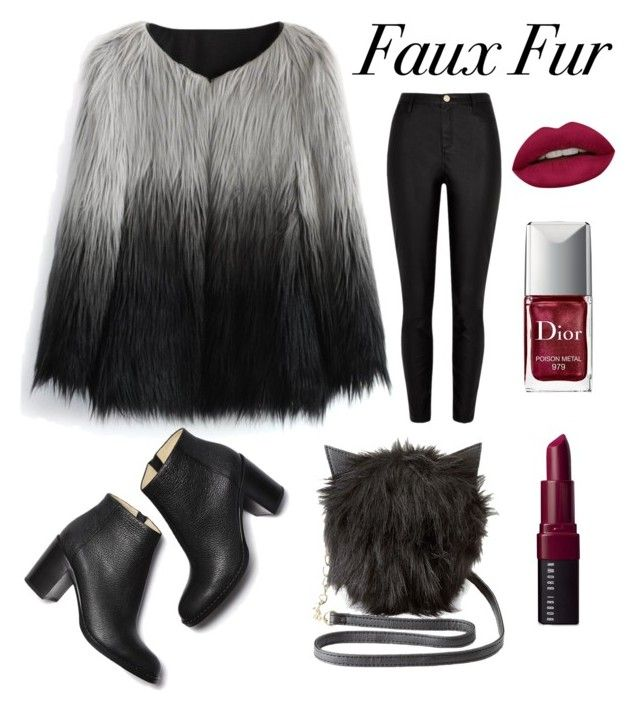 """Faux Fur"" by daniiela-diiana on Polyvore featuring Mode, Chicwish, Charlotte Russe, River Island, Huda Beauty, Christian Dior und Bobbi Brown Cosmetics"
