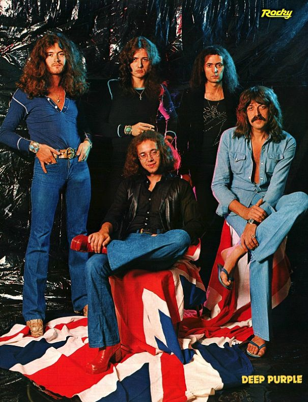 Deep Purple circa 1974. Rocky magazine (Germany) superposter. 1977 | Deep purple, Purple band, 70s rock bands