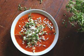 Tomatsoppa med fetaost - Portionen Under Tian