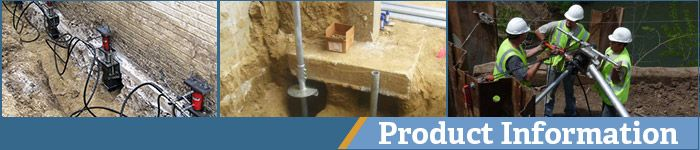 High capacity deep foundation alternative -All-weather installation. Installed in areas of limited or tight access-installed with hand-held equipment. Vibration-free installation. Install quickly without generating spoils. For contaminated sites. can be removed. Load tests can be conducted immediately following installation. Clean installation-does not include concrete or grout