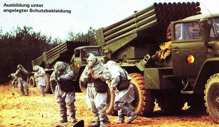 National People`s Army training for chemical warfare.