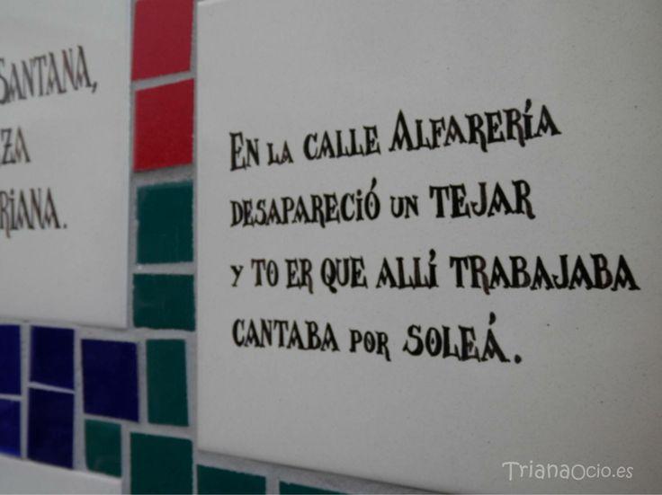 Soleá dedicada a la calle Alfarería de Triana - Monumento de a los Alfareros - Triana - Sevilla www.trianaocio.es
