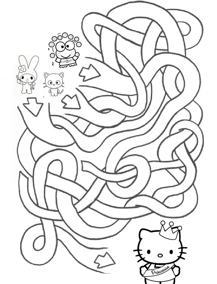 hello kitty 39 s maze 2 mad about kitty 270399 keroppi coloring pages az coloring pages