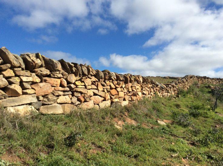 Old stone wall near Keyneton, South Australia.