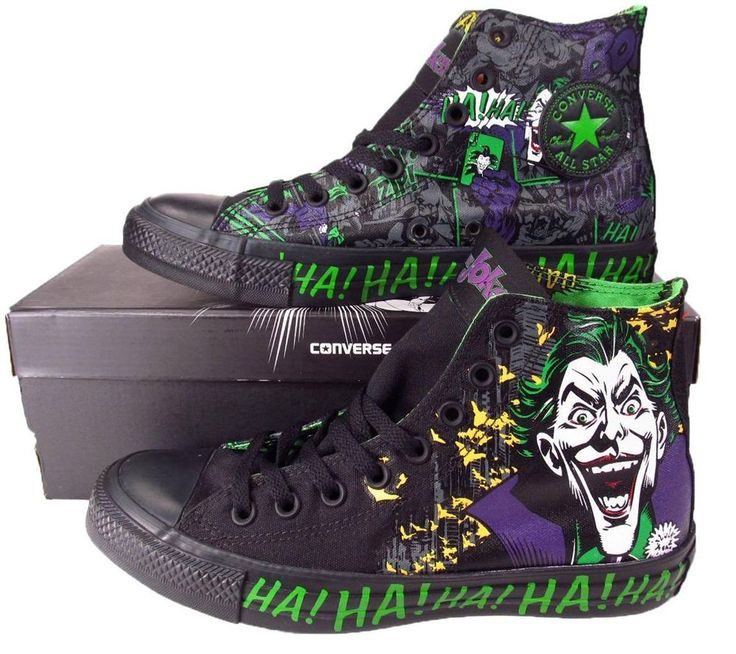 Converse Batman THE JOKER DC COMICS Chuck Taylor All Star Sneaker BLACK 141261C #Converse #FashionSneakers