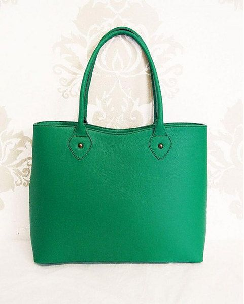 Genuine leather  handbag! Emerald-green from Dajana Rodriguez by DaWanda.com
