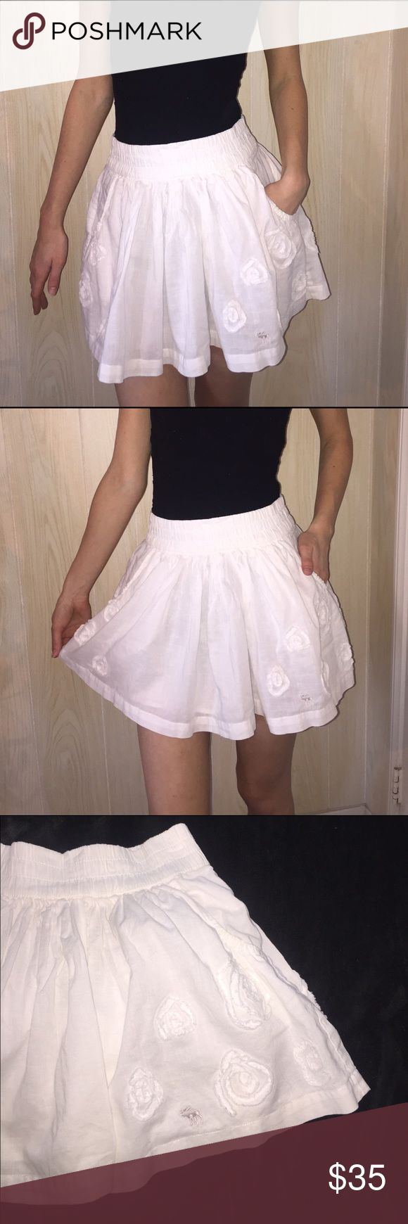 Brand-new Abercrombie and Fitch white skirt Brand-new Abercrombie and Fitch white skirt. Size small ❤️️ Abercrombie & Fitch Skirts Mini