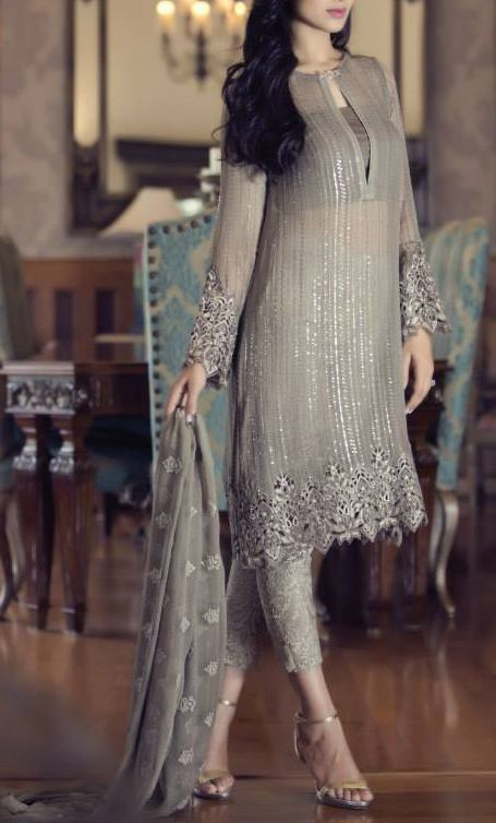 Pakistani festival wear by Maria B. Chiffon Eid Collection.