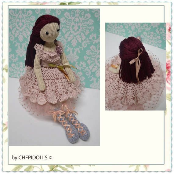 CROCHET DOLL Finished doll 17 inch tall doll. by chepidolls ♡