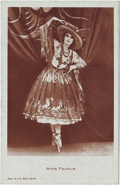 """""""Anna Pavlova performing The Mexican Hat Dance  """""""