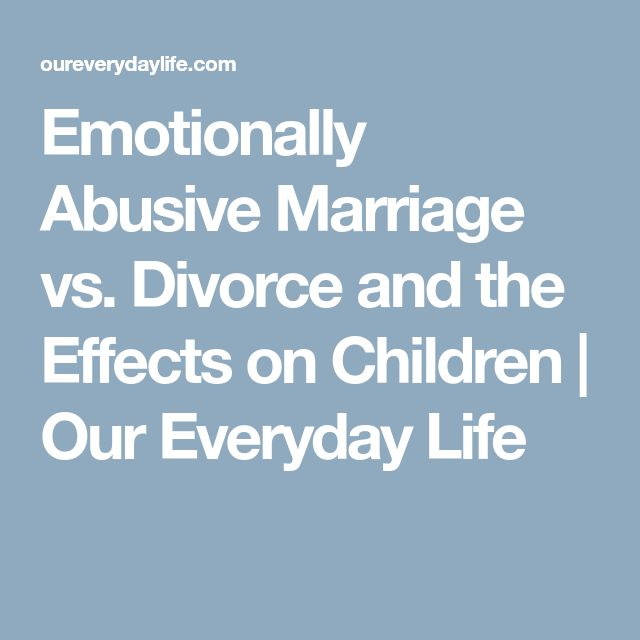 divorce and the effects on children Another effect on children involved in a divorce is that the children develop behavior problems some children react to divorce by acting out in violence the deepest of all emotions is anger, and it is the easiest to recognize in older children that are coping with a divorce.