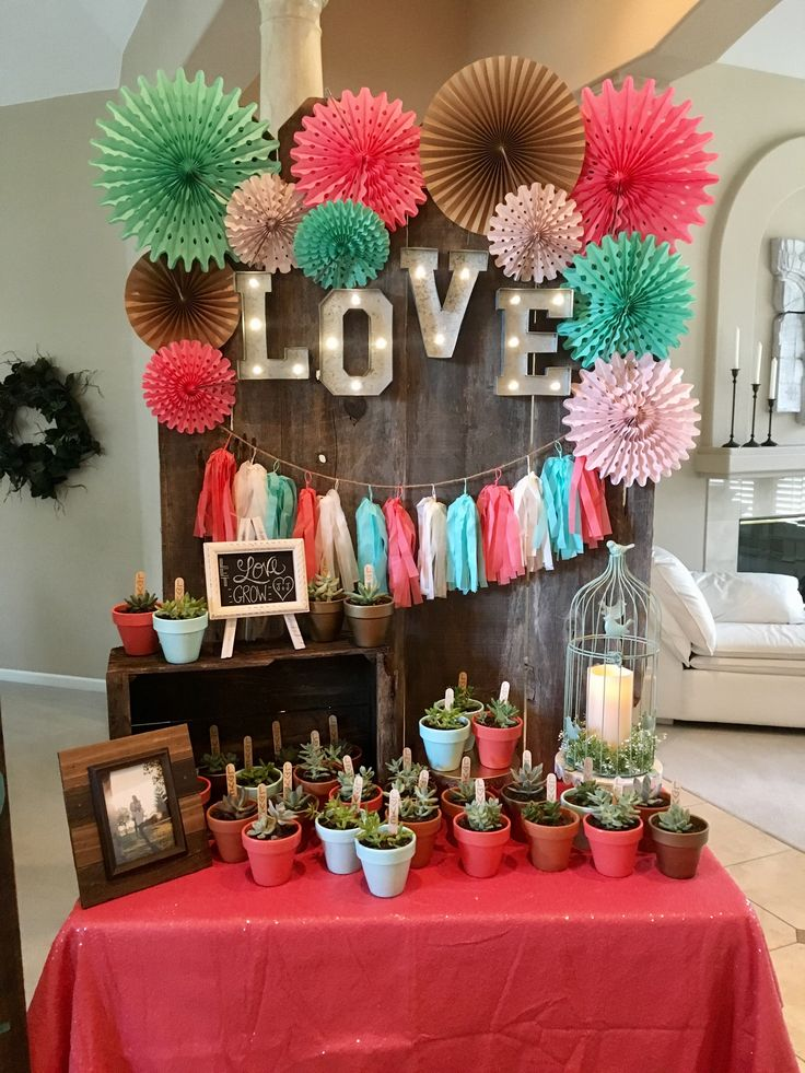 • Bridal shower decorating ideas • teal and coral bridal shower • bridal shower favors • backdrops •