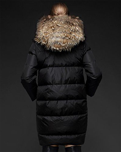 THIN MORE Women's Plus Size Hooded Long Puffer Down Coats with Fur Hood http://www.yearofstyle.com/thin-more-womens-plus-size-hooded-long-puffer-down-coats-with-fur-hood/