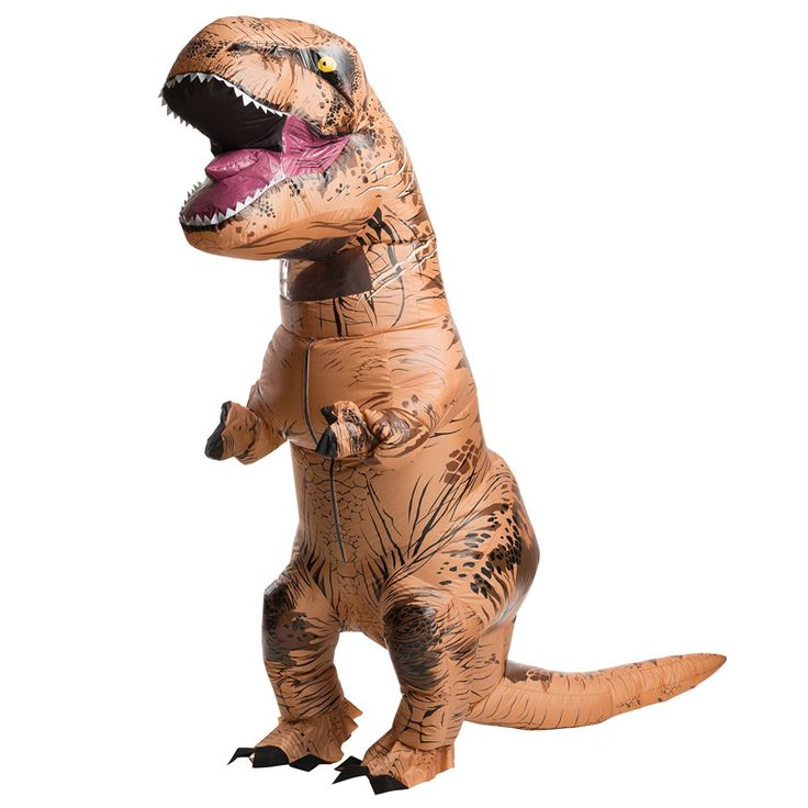 This ferocious T-Rex costume inflates with the help of a built-in battery-operated fan and comes complete with a giant roaring head, extra little arms, and a long tail to ensure maximum carnage when you spin around.