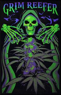 Opticz Grim Reefer - Black Light Poster www.trippystore.com/opticz_grim_reefer_black_light_poster.html