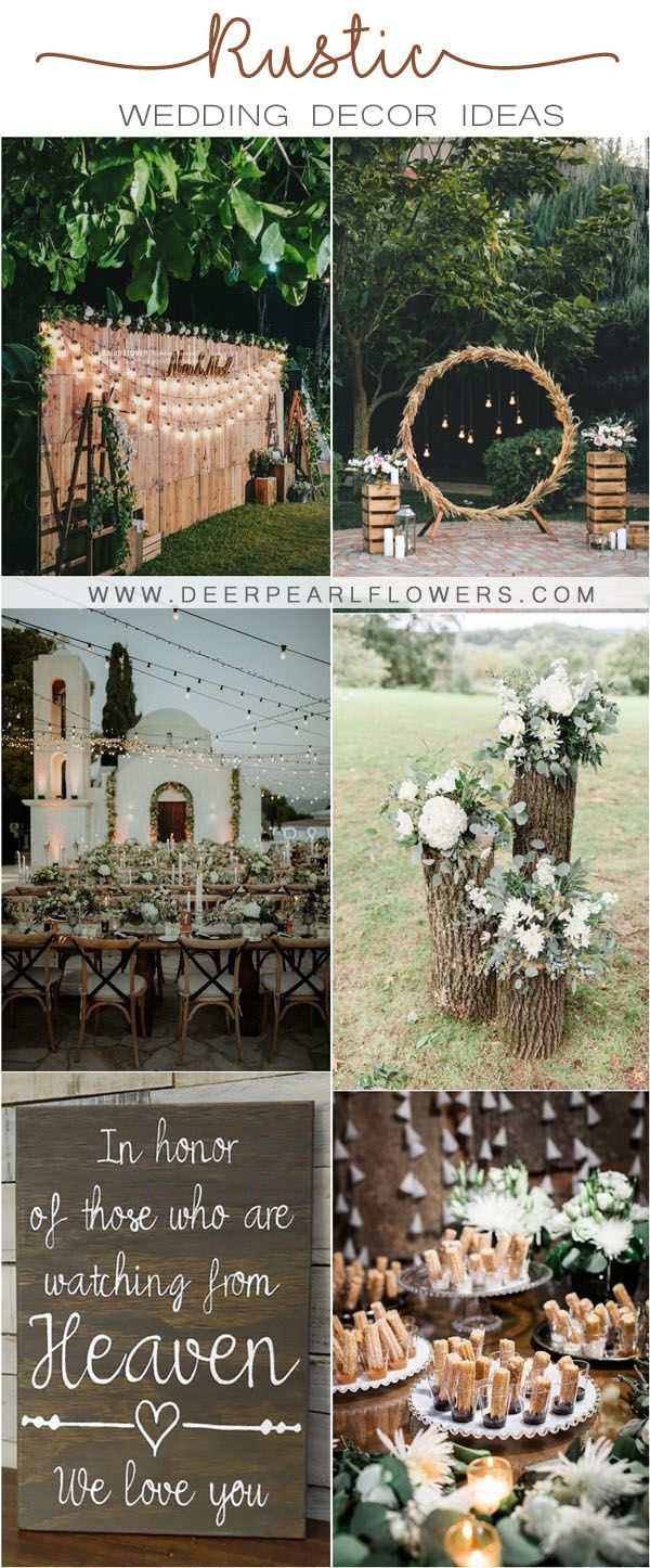 Top 20 Rustic Wedding Ideas For Wedding 2020 My Deer Flowers Part 2 In 2020 Country Wedding Decorations Rustic Country Wedding Decorations Country Wedding