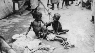 The Bengal Famine of 1943 struck the Bengal Province of pre-partition British India. It is estimated that, out of Bengal's 60.3 million population, between 1.5 and 4 million people died of starvation, malnutrition and disease, half of them dying from disease after food became available in December 1943.