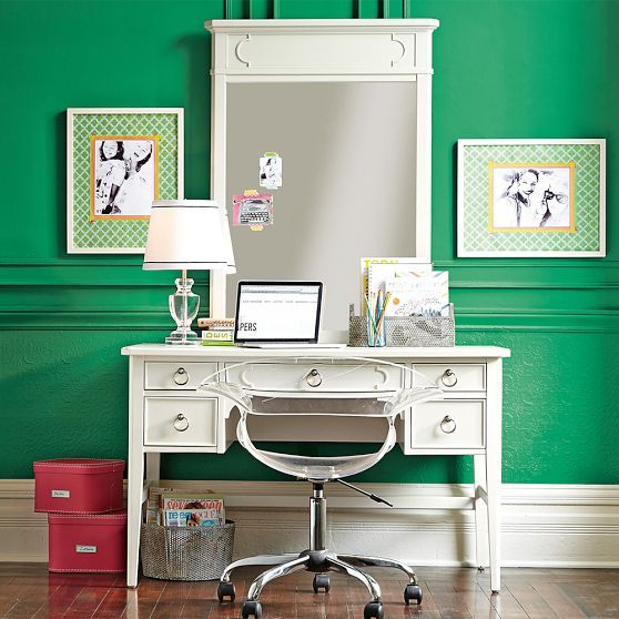 Shelby Desk Mirror Hutch Pbteen Wall Color Teen