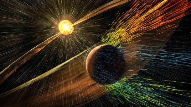 Sonneneruptionen und der Mars