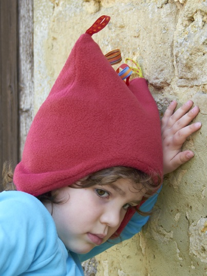 Red Fleece Toggle Hat