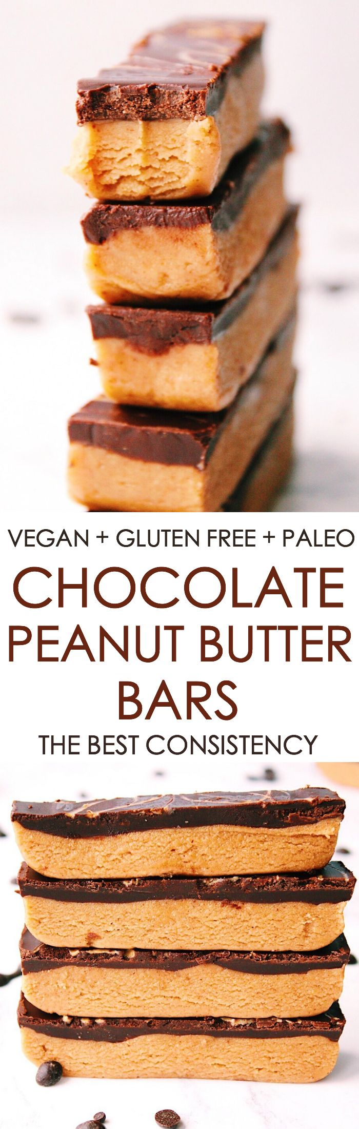 The most delicious chocolate peanut butter bars - totally #vegan #glutenfree + #paleo ✌