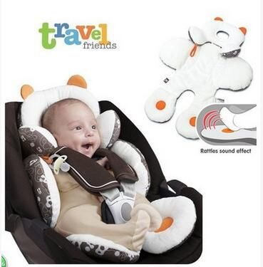 New S/L Size Reversible Baby Body Support Stroller Pram Seat Cushion Pad Portable Baby Safety Seat Car Pushchair Car Pillow Mat
