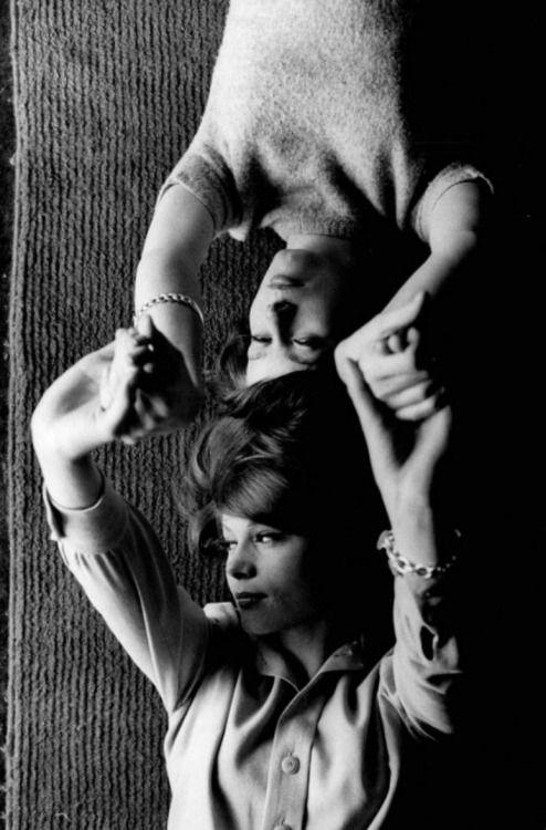 Catherine Deneuve and Françoise Dorléac, 1960s.